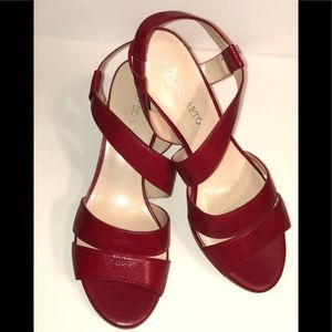 • NEW • Franco Sarto Red Leather Heels